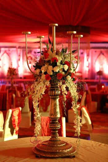 Photo of Tall floral table centerpiece