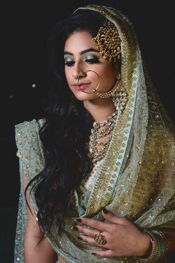 Pearl nath and kundan bridal passa