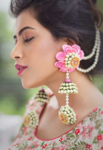 Floral earrings for the bride to be