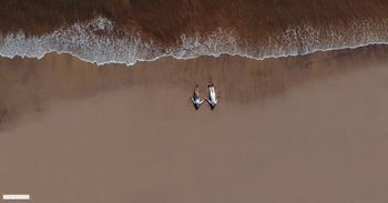 pre wedding drone photography shot on the beach