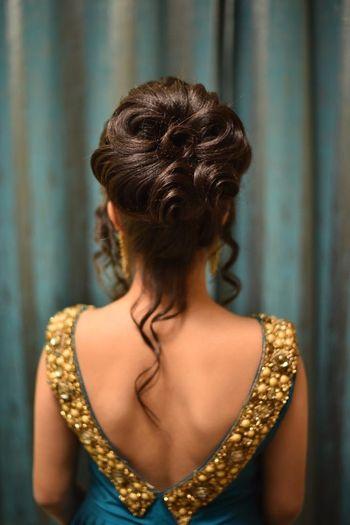 Sangeet hairstyle bun