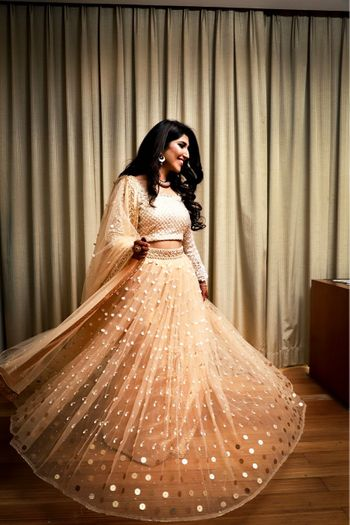 Sister of the bride or engagement lehenga with sequins