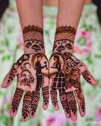 Proposal mehendi design for bride