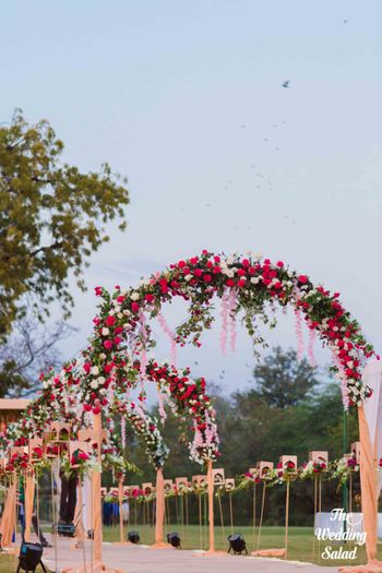 Beautiful round floral arrangements