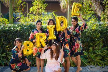 Fun bridesmaids shot