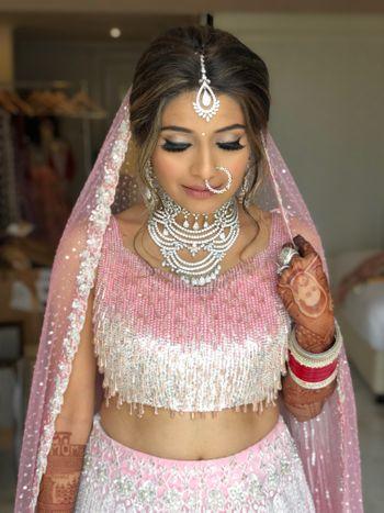 Offbeat bride in unique lehenga and jewellery