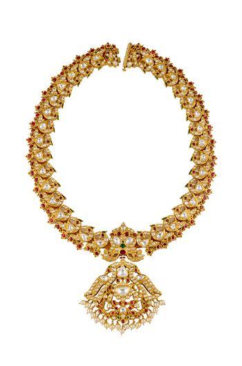 Kundan necklace with pendant tukdi