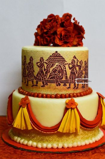 Photo of two layer cakes