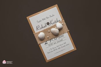 Photo of Destination Wedding Invitation Card with Shells