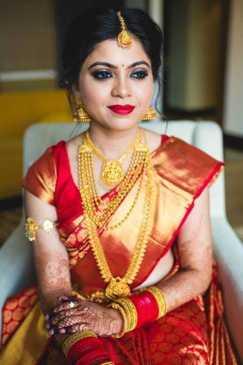Beautiful traditional south indian bridal look