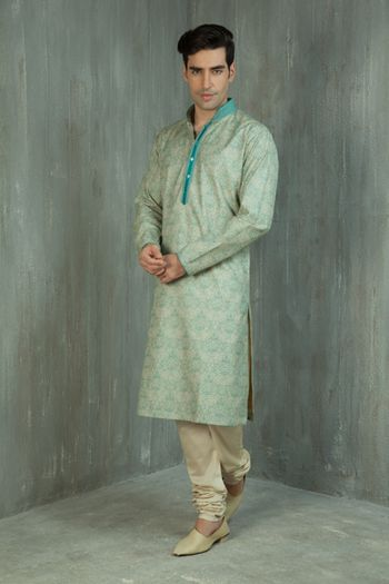 mint green kurta
