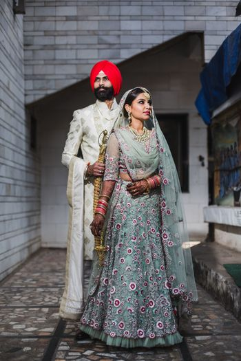 Photo of Offbeat sikh bridal colour