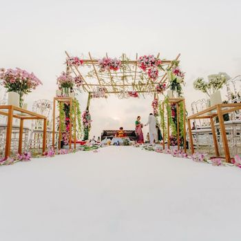 Photo of Beachside minimal mandap decor
