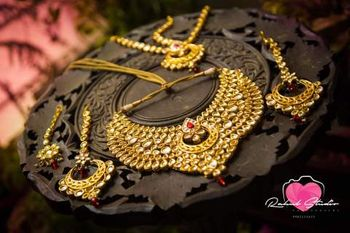 Gold Bridal Jewelry with Kundan and Ruby
