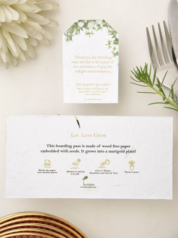 modern airplane theme wedding invite