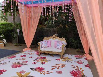 Photo of Floral printed floor.