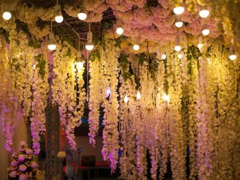 Pretty hanging decor with white floral strings