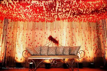Red Themed Stage Decor