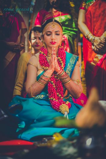 Photo of south indian bridal mathapati
