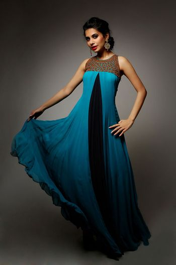 Photo of blue floor length gown