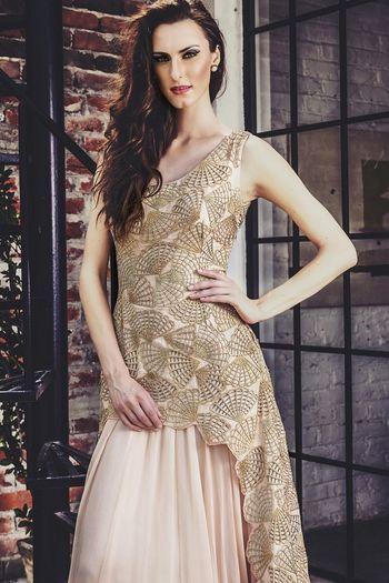 Photo of beige sleeveless