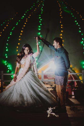 Couple dance outdoor shot