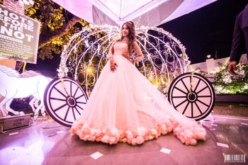 Fairytale theme engagement with gown and Photo Booth
