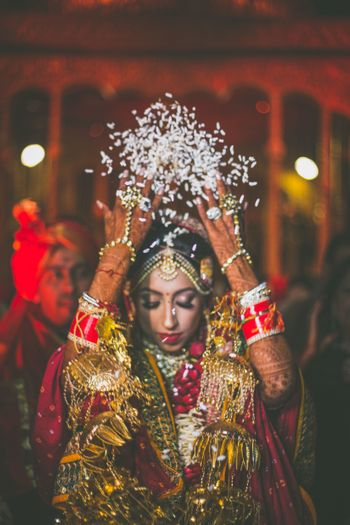 bride with gold kaleere