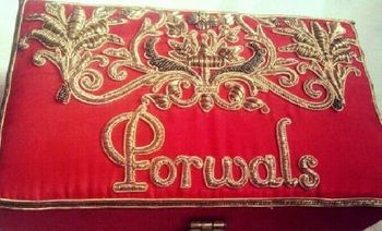 Photo of Druu velvet covered box with zardozi embroidery