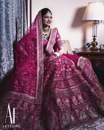 Photo of Stunning pink bridal lehenga