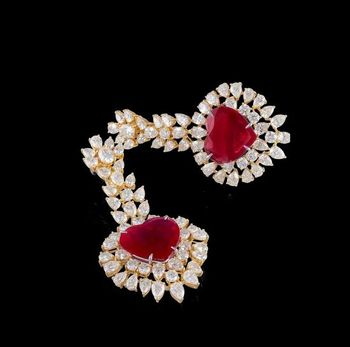 ruby an diamond earrings