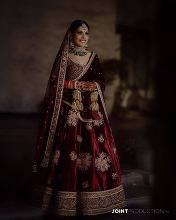 Maroon  bridal lehenga!