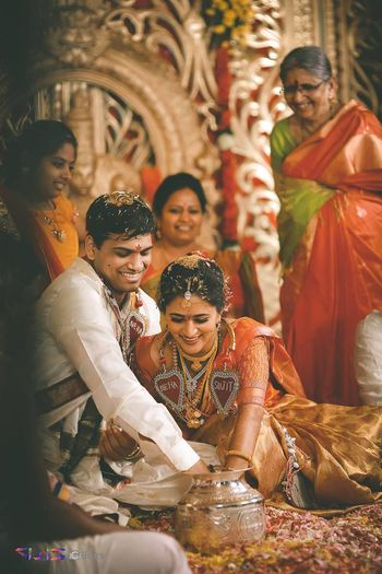 south indian couple candid shot