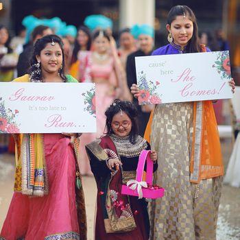 Kids announcing bridal entry