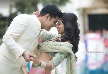 Couple Hugging and Dancing Shot