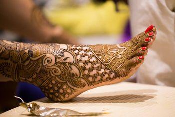 Bridal Feet Mehendi Design - Traditional Mehendi