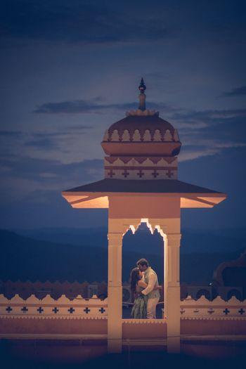 Beautiful couple shot for palace wedding