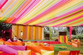 Colorful Tent Decor for Mehendi