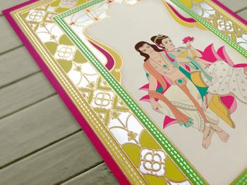 funky neon illustrated invitation with caricatures