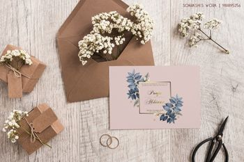 A simple floral invite