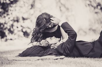 Romantic pre wedding shoot in black and white