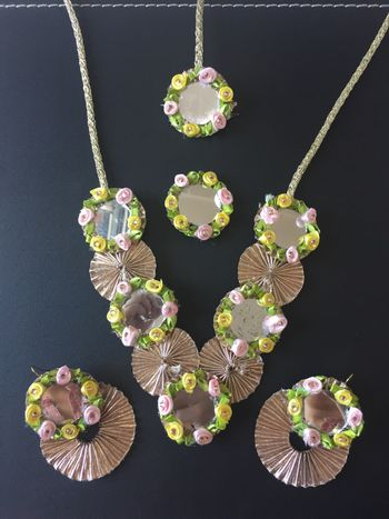 Photo of Gota jewellery necklace for Mehendi