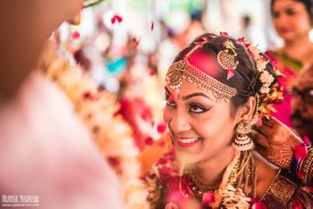 south indian bridal shot
