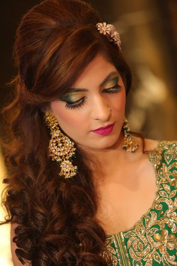 Bridal makeup and hairdo