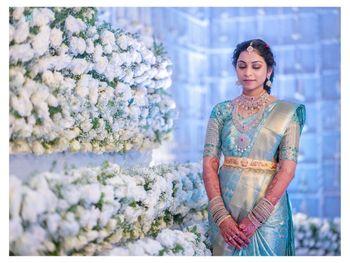 A unique Kanjeevaram silk saree hue