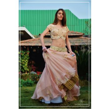blush colored lehenga