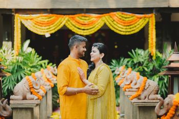 Photo of Intimate haldi setup
