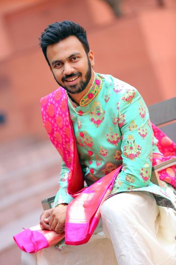 Unique groom sherwani
