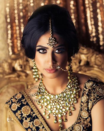 Modern artificial kundan jewellery set for bride