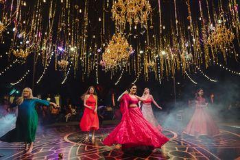 Group dance shot